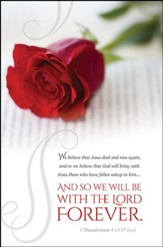 With the Lord Forever (1 Thessalonians 4:14-17, NIV) Bulletins, 100