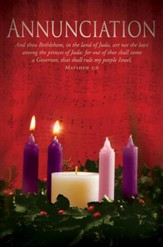 Annunciation (Matthew 2:6) Advent Bulletins, 100