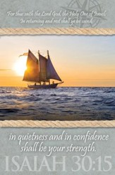 In Quietness and in Confidence (Isaiah 30:15) Bulletins, 100