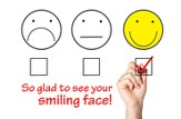 Glad to See Your Smiling Face (Psalm 129:8) Postcards, 25