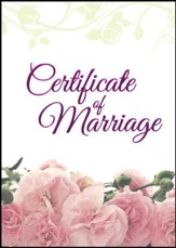 Pink Petals--Marriage (1 Corinthians 13:4-8, NIV) Foil Embossed Certificates, 6