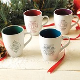 Christmas Mugs, Set of 4