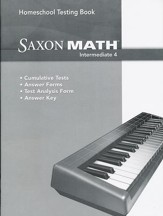 Saxon Math Intermediate 4 Homeschool Testing Book