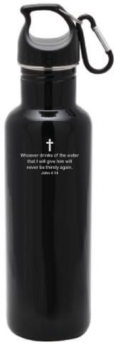 Stainless Steel Sport Bottle, Black