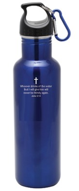 Stainless Steel Sport Bottle, Blue