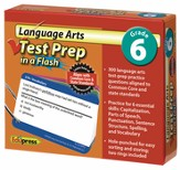 Language Arts Test Prep in a Flash, Grade 6