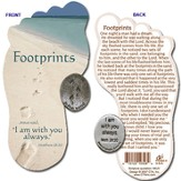Footprints Pocket Token with Bookmark