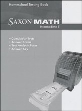 Saxon Math Intermediate 5 Homeschool Testing Book