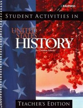 BJU Heritage Studies 11: U.S. History Student Activities Teacher's Edition, Third Edition