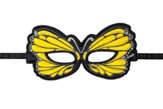 Butterfly Dress Up Masks, Yellow