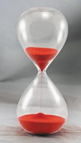 Hourglass Sand Timer (30 min), Red
