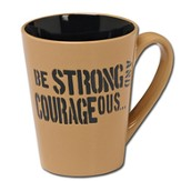 Strong and Courageous Mug, Gift Boxed