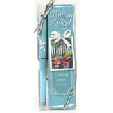 Woman of God Pen and Bookmark Gift Set