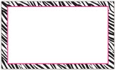 Border Index Cards - 3 x 5 Blank Zebra/Pink, Pack of 75