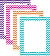 Computer Paper - Assorted Chevron, pack of 50
