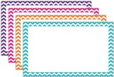 Border Index Cards - 3 x 5 Blank Chevron, Pack of 75