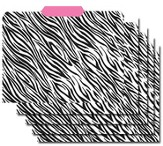 File Folders - Zebra/Pink, Pack of 12