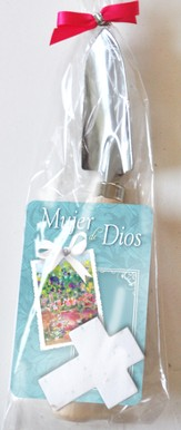 Mujer de Dios, Set de Paleta y Cruz de Semillas Plantable  (Woman of God, Trowel and Seed Cross Garden Gift Set)