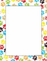 Computer Paper - Paw Prints, Pack of 50