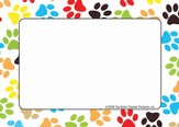 Name Tags - Paw Prints, Pack of 31
