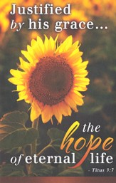 Hope Sunflower (Titus 3:7) Bulletins, 100