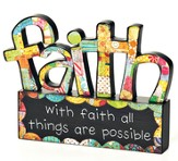 With Faith, All Things Are Possible Tabletop Sculpture