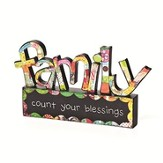 Family, Count Your Blessings Tabletop Sculpture
