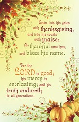 Be Thankful Unto Him, Pack of 50 Bulletins