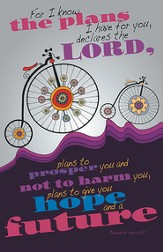 Bicycles For I Know the Plans I Have for You, Pack of 100 Bulletins