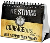 Strong and Courageous Inspirational Flip Easel Book