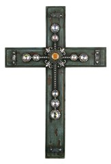 Wood Turquoise Cross