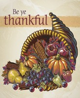 Cornucopia Be Ye Thankful, Pack of 100 Large Bulletins