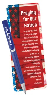 Praying For Our Nation, Pen and Bookmark