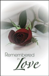 Remembered In Love Red Rose, Pack of 50 Bulletins