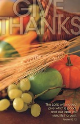 Give Thanks Wheat and Fruit, Pack of 100 Bulletins