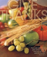 Give Thanks Wheat and Fruit, Pack of 100 Large Bulletins