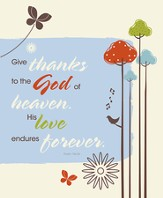 Give Thanks to the God of Heaven, Pack of 100 Large Bulletins