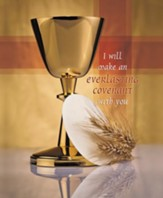 Gold Chalice and Host, Pack of 100 Large Bulletins