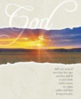 Sunrise God Shall Wipe Away, Pack of 100 Large Bulletins