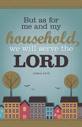 My Household Will Serve the Lord, Pack of 100 Bulletins