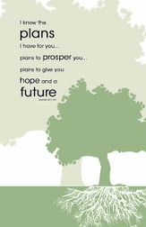 I Know the Plans Tree, Pack of 100 Bulletins