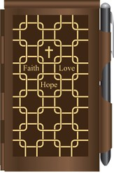 Faith, Hope Love Metal Note Case and Pen Set