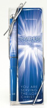Teachers Touch Eternity Pen and Bookmark Set