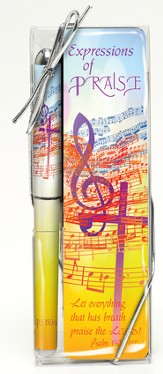 Music Expressions of Praise Pen and Bookmark Set