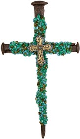 Large Turquoise Nail, Wall Cross