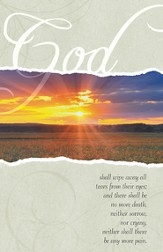 Sunrise God Shall Wipe Away All Tears, Pack of 100 Bulletins