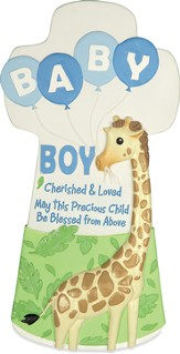 Cherished and Loved, Baby Boy Wall Cross