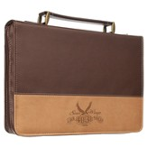 Soar Wings Bible Cover, Brown, Medium