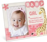 Cherished and Loved, Baby Girl Photo Frame
