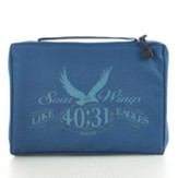 Soar Wings Bible Cover, Blue, Large
